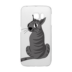 Gray Cat Galaxy S6 Edge by Valentinaart