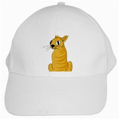 Yellow cat White Cap