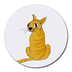 Yellow cat Round Mousepads