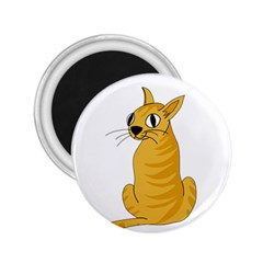 Yellow cat 2.25  Magnets