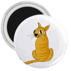 Yellow cat 3  Magnets