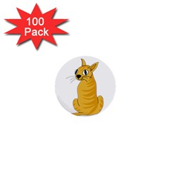 Yellow cat 1  Mini Buttons (100 pack)