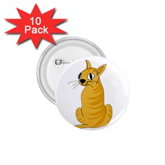 Yellow cat 1.75  Buttons (10 pack)