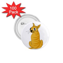Yellow cat 1.75  Buttons (100 pack)