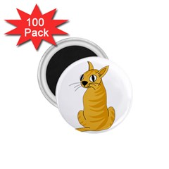 Yellow cat 1.75  Magnets (100 pack)