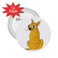 Yellow cat 2.25  Buttons (10 pack)