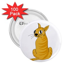 Yellow cat 2.25  Buttons (100 pack)