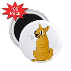 Yellow cat 2.25  Magnets (100 pack)