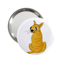 Yellow cat 2.25  Handbag Mirrors