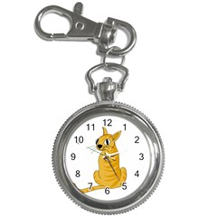 Yellow cat Key Chain Watches