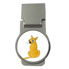 Yellow cat Money Clips (Round)