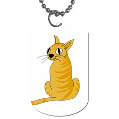 Yellow cat Dog Tag (One Side)