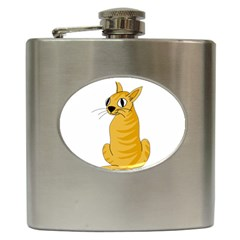 Yellow cat Hip Flask (6 oz)