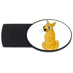 Yellow cat USB Flash Drive Oval (2 GB)