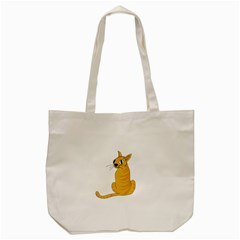 Yellow cat Tote Bag (Cream)