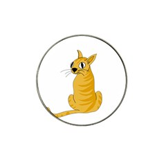 Yellow cat Hat Clip Ball Marker (4 pack)