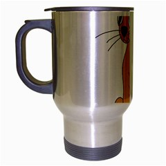 Yellow cat Travel Mug (Silver Gray)