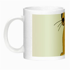 Yellow cat Night Luminous Mugs