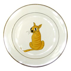 Yellow cat Porcelain Plates