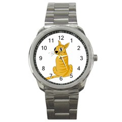 Yellow cat Sport Metal Watch