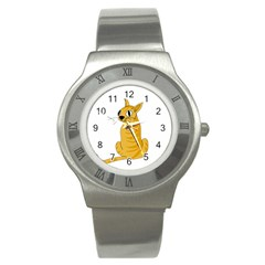 Yellow cat Stainless Steel Watch