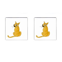 Yellow cat Cufflinks (Square)