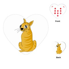 Yellow cat Playing Cards (Heart)