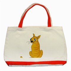 Yellow cat Classic Tote Bag (Red)