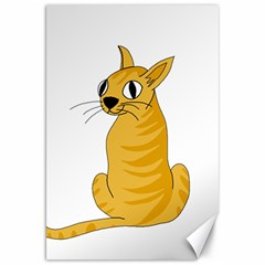 Yellow cat Canvas 20  x 30