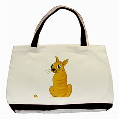 Yellow cat Basic Tote Bag (Two Sides)