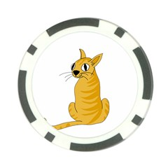 Yellow cat Poker Chip Card Guards
