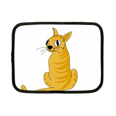 Yellow cat Netbook Case (Small)