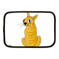 Yellow cat Netbook Case (Medium)