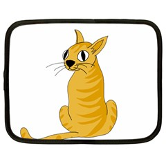 Yellow cat Netbook Case (Large)