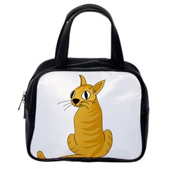 Yellow cat Classic Handbags (One Side)