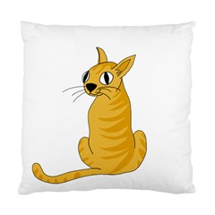 Yellow cat Standard Cushion Case (Two Sides)