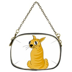 Yellow cat Chain Purses (Two Sides)