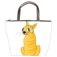 Yellow cat Bucket Bags
