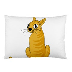 Yellow cat Pillow Case