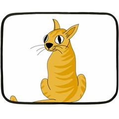 Yellow cat Fleece Blanket (Mini)