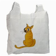 Yellow cat Recycle Bag (One Side)