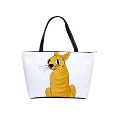 Yellow cat Shoulder Handbags