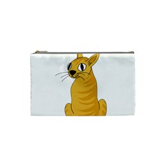 Yellow cat Cosmetic Bag (Small)