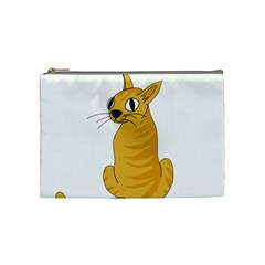 Yellow cat Cosmetic Bag (Medium)