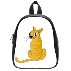 Yellow cat School Bags (Small)