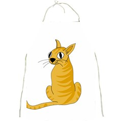 Yellow cat Full Print Aprons