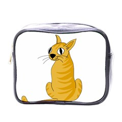 Yellow cat Mini Toiletries Bags