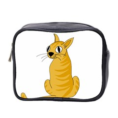 Yellow cat Mini Toiletries Bag 2-Side