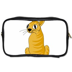 Yellow cat Toiletries Bags