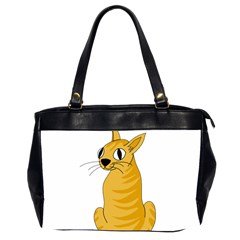 Yellow cat Office Handbags (2 Sides)
